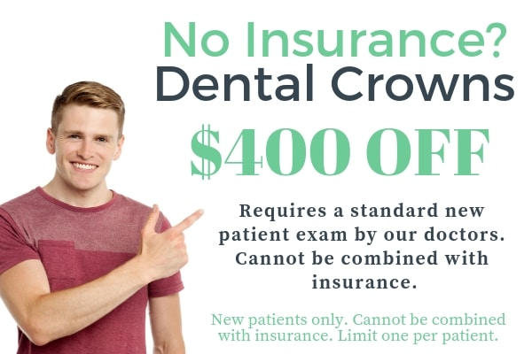 $400 off dental crowns