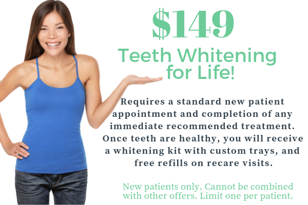 $149 teeth whitening for life