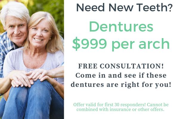 dentures $999 per arch